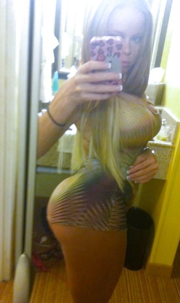 Tchat webcam avec une blonde typée brésilienne au gros cul